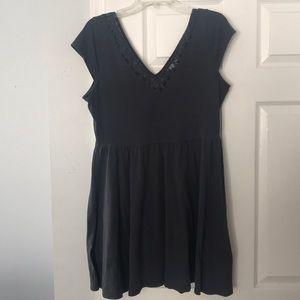 LC Lauren Conrad | Gray V-Neck Fit n Flare Dress